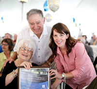 Rose and David accepting plaque from Cornwall Community Hospital Foundation
